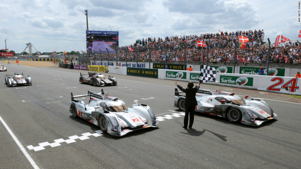 Defending champion Andre Lotterer guided the car over the finish line, as Audi completed a clean sweep of the podium places.