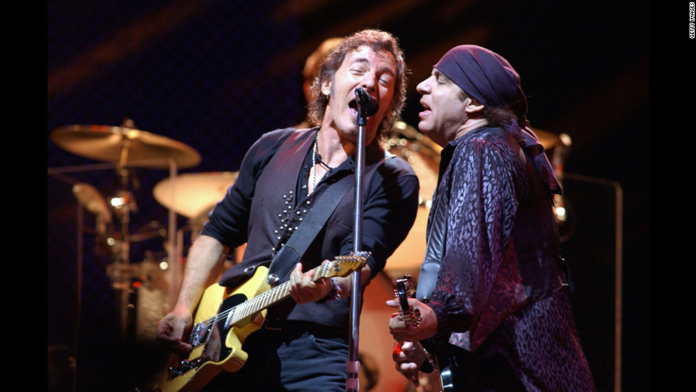 Springsteen with guitarist Steven Van Zandt in Madrid, Spain, in 2003. The two have been playing together since the early 1970s.