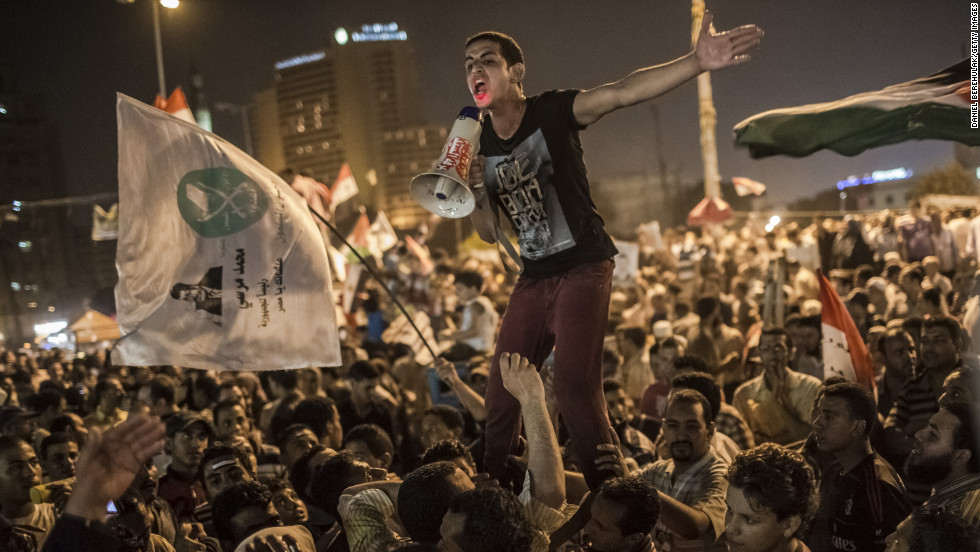 "After months of military rule following the resignation of President Hosni Mubarak, <strong>Egypt</strong> elected Mohamed Morsy, a <a href=""http://www.cnn.com/2012/06/24/world/meast/egypt-morsi-profile/index.html"">U.S.-educated Islamist</a> who led the political wing of the Muslim Brotherhood, Egypt's largest opposition group. Thousands gathered in Cairo's Tahrir Square to celebrate Morsy's victory, but he inherited a <a href=""http://www.cnn.com/2012/06/24/world/meast/egypt-morsi-challenges/index.html"">variety of challenges</a>."