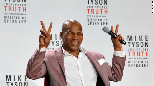 Mike Tyson attends press conference for Broadway show 'Mike Tyson: Undisputed Truth' on June 18, 2012.