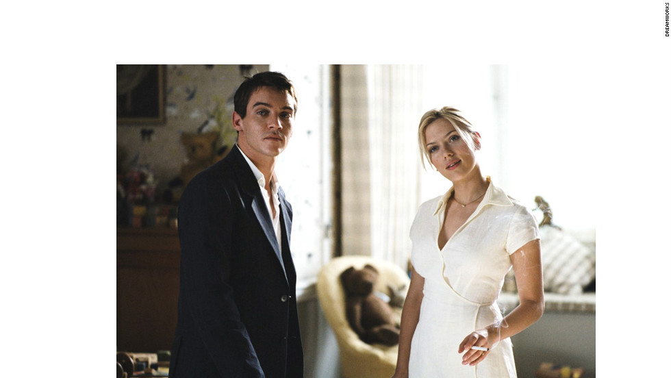 "In ""Match Point,"" Scarlett Johansson plays an American actress involved in a volatile affair with a social-climbing tennis player played by Jonathan Rhys-Meyers."
