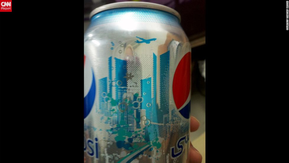 "CNN iReporter Lyndsay Brock, working at the Baghdad Diplomatic Support Center in Iraq, <a href=""http://ireport.cnn.com/docs/DOC-719248"">shared this photo</a> of a Diet Pepsi can that caused some controversy online in 2011. Some said the imagery resembled the Twin Towers and a plane flying overhead. Pepsi responded that any such resemblance was unintentional and that the design was inspired by the skyline in Dubai, United Arab Emirates."