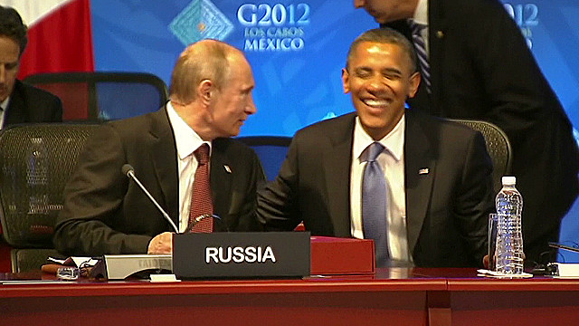 Putin and Obama share a laugh at G-20