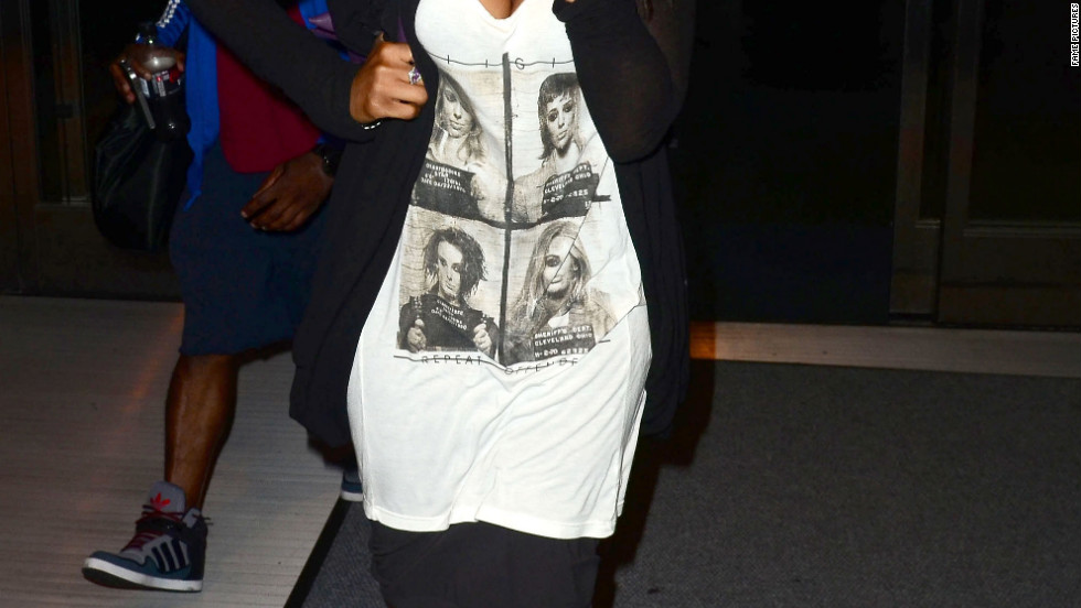 Jennifer Hudson arrives in New York City.