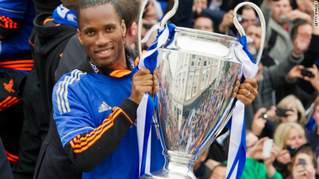 Ivorian Didier Drogba joined Chelsea in 2004, helping the club to four English championships.