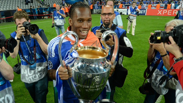 Didier Drogba's last kick in a Chelsea shirt delivered them the European Champions League