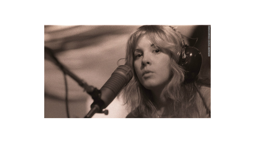 Stevie Nicks at age 27 in 1976.
