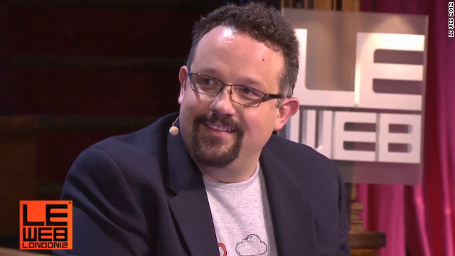 "Phil Libin at the LeWeb conference in London. ""We want people to ... believe Evernote will be around for 100 years,"" he said."