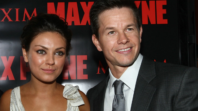 Actress Mila Kunis with actor Mark Wahlberg