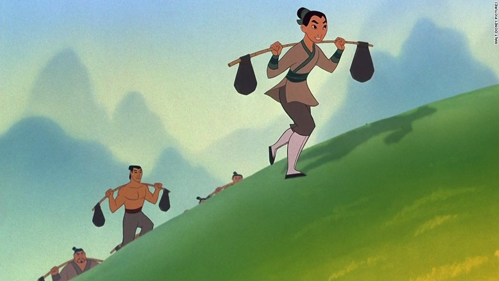 "Mulan bent traditional gender roles when she took her father's place in the Chinese army in 1998's ""Mulan."""
