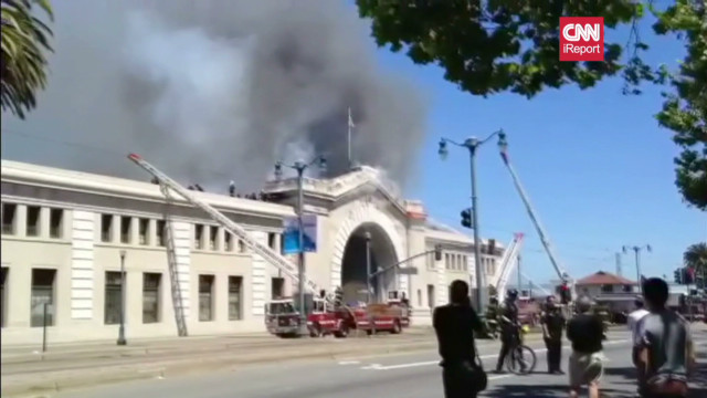 Watch San Francisco pier partially collapse