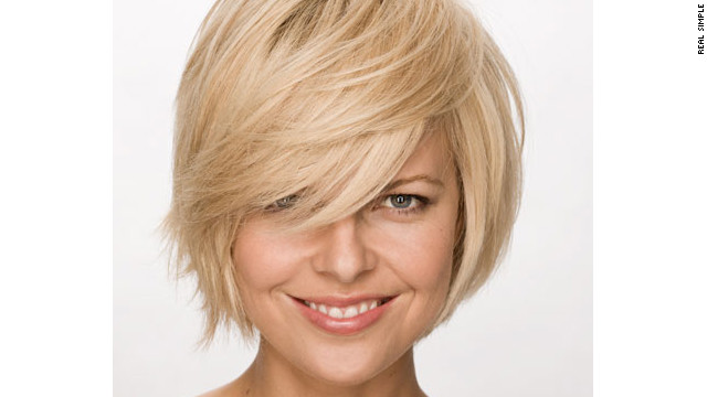A layered bob works well with fine hair.