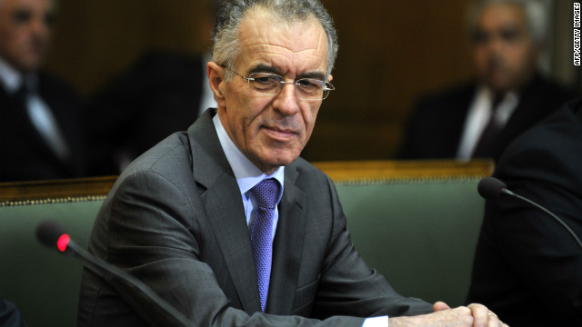 Newly appointed Greek Finance Minister Vassilis Rapanos was admitted to a hospital for tests a day after he was appointed to the key government role.