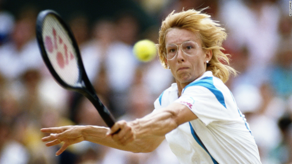 Martina Navratilova was one of the few serve-volleyers in the women's game, and the style helped the Czech-American star win a record nine Wimbledon titles.