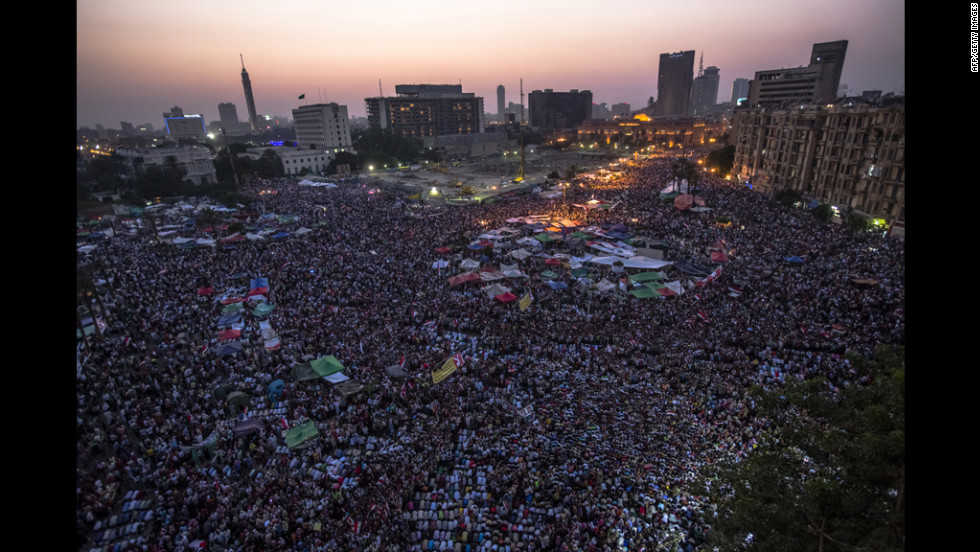 Thousands of Egyptians gather in Tahrir Square after Mohamed Morsi is declared the nation's first democratically elected president on Sunday, June 24. In a nationally televised speech, the longtime member of the Muslim Brotherhood promised to represent all Egyptians.