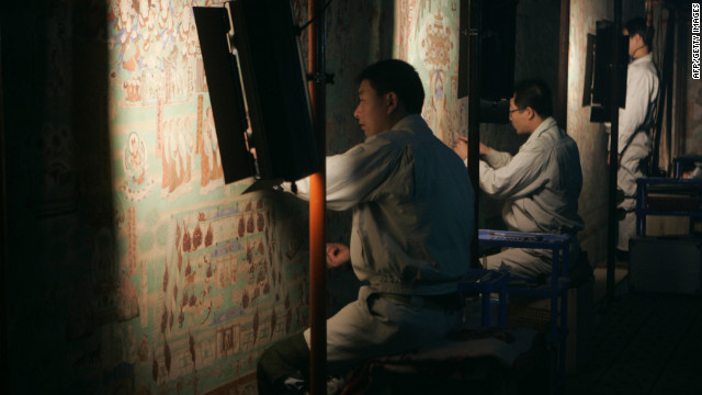 Mogao Caves in Dunhuang, northwest China