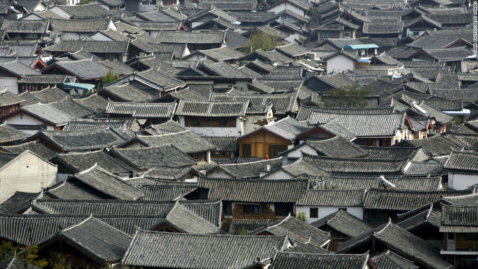 Lijiang, an ancient town set in a dramatic mountain landscape in the southwestern province of Yunnan has struggled to accommodate a surge in tourists. It receives 11 million visitors a year.