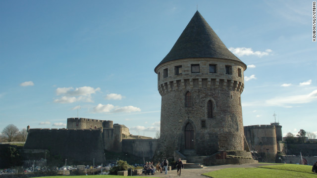Tanguy Tower is one of the few remaining medieval monuments still standing after World War II