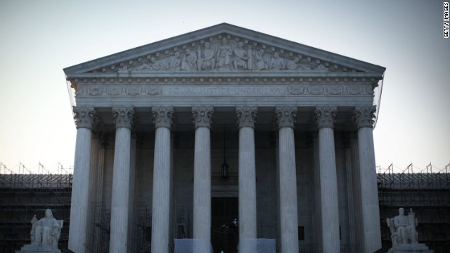 An exterior view of the U.S. Supreme Court is seen on June 21, 2012 in Washington, DC.