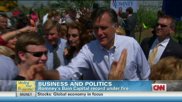 Romney's Bain record under fire