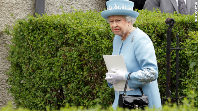 Queen Elizabeth II, pictured during her visit to Northern Ireland, on June 26, 2012.