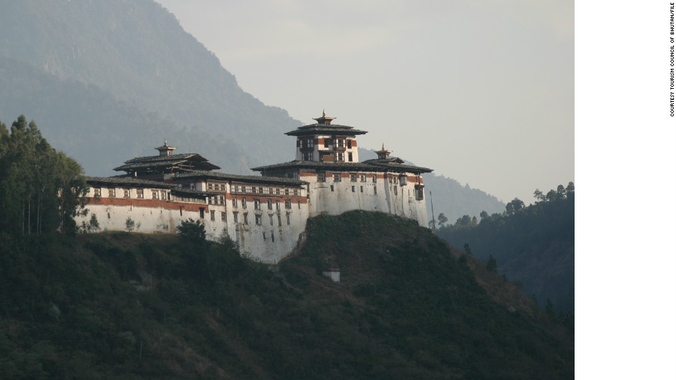 Wangdue Phodrang Dzong as seen before the fire razed it to the ground.