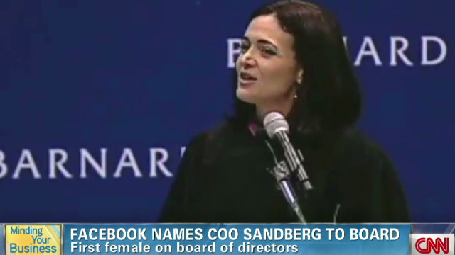 MYB: Sandberg named to Facebook board