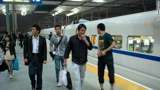 A Shanghai metro official has said that women should dress more modestly when on metro platforms such as this one.