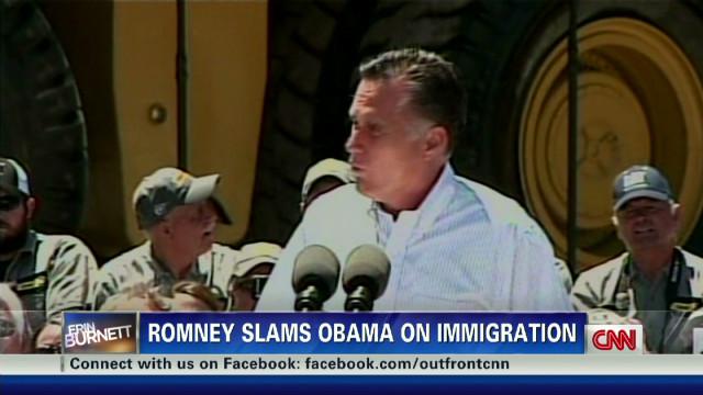 Romney hammers Obama on immigration