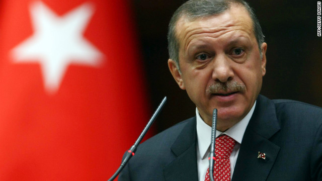 Prime Minister Recep Tayyip Erdogan says Turkey will treat a military approach toward its borders by Syria as a potential threat.