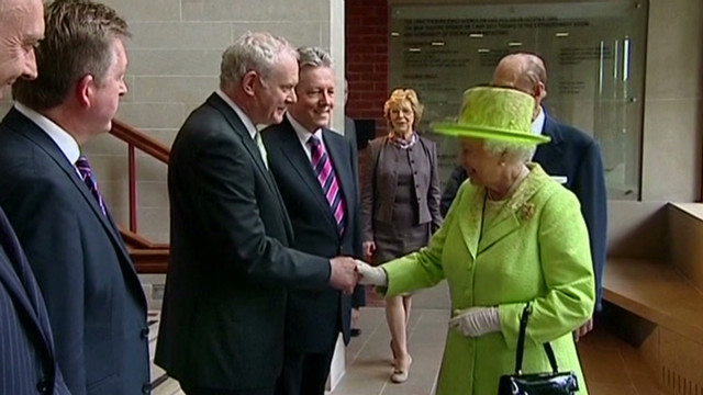 Historic handshake: Queen, ex-IRA leader
