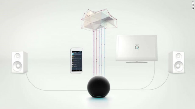 "Google bills the globe-like Nexus Q device as ""the first social streaming player."""