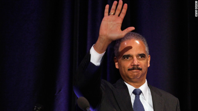 Embattled Attorney General Eric Holder spoke in Washington Tuesday