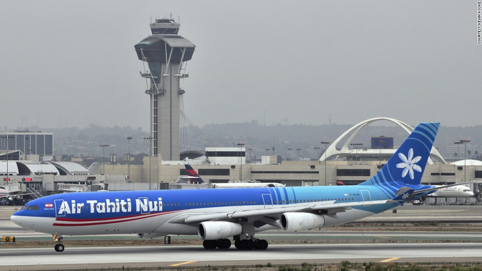 Plane spotter Kevin Koske snapped this image of an Air Tahiti Nui Airbus A340-313E, taxiing at LAX.