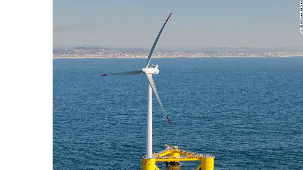 A floating wind turbine has been inaugurated off the coast of Agucadoura, Portugal.