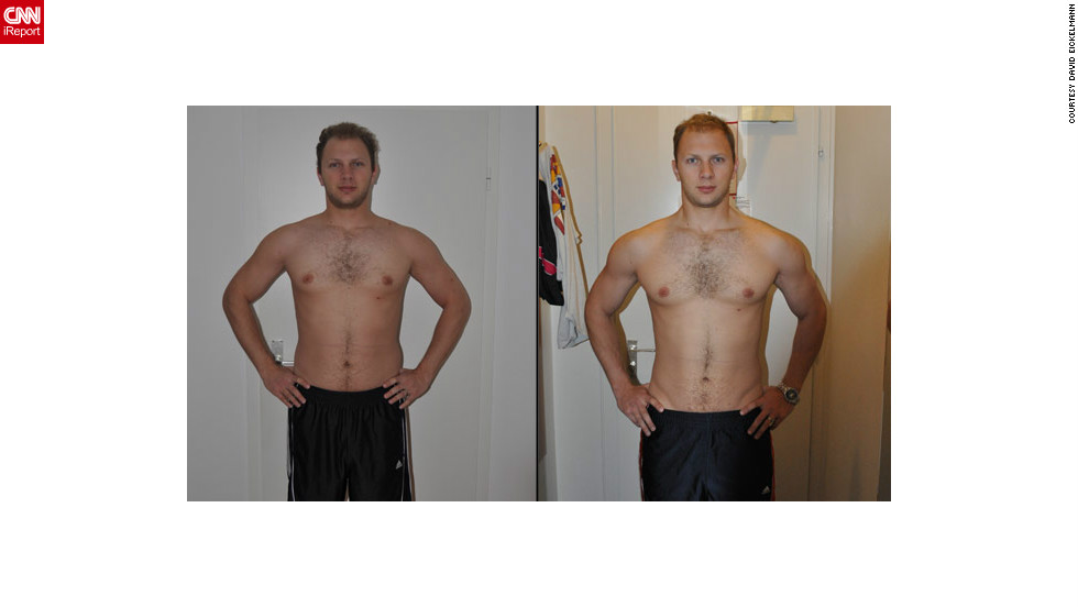 "<a href=""http://ireport.cnn.com/docs/DOC-801626"">David Eickelmann</a> before and after using the fitness training website WeightTraining.com."