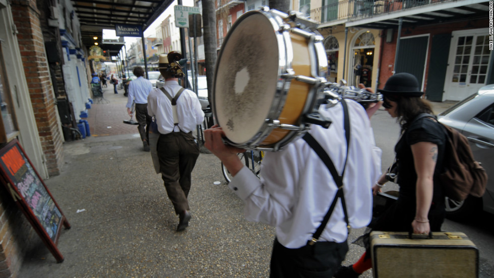 "There's no shortage of captivating characters in the Crescent City year-round, especially in the French Quarter. Neglect to mingle and you could find yourself ""<a href=""http://www.cnn.com/2012/07/05/travel/new-orleans-broom-strummer/index.html"">Singing the Broom Strummer blues</a>."""