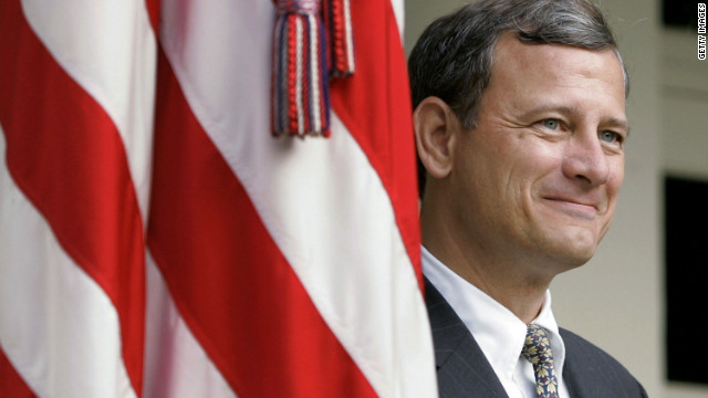 Chief Justice John Roberts, pictured in 2005, served on the U.S. Court of Appeals for the District of Columbia Circuit before his nomination to the Supreme Court. Earlier in his career, he was a government and private practice attorney.