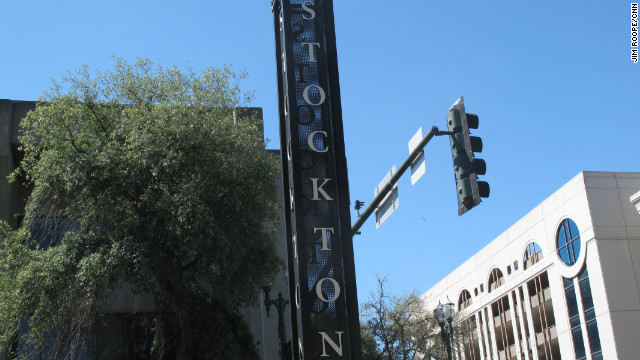 Stockton has become the largest US city in history to file for bankruptcy.