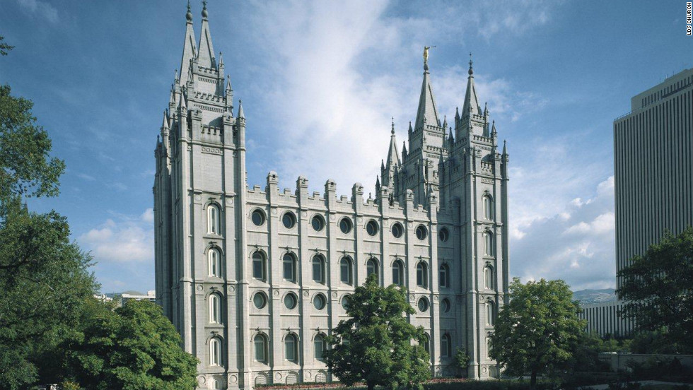 The Neo-Gothic Salt Lake Temple, which was dedicated in 1893, took 40 years to construct.