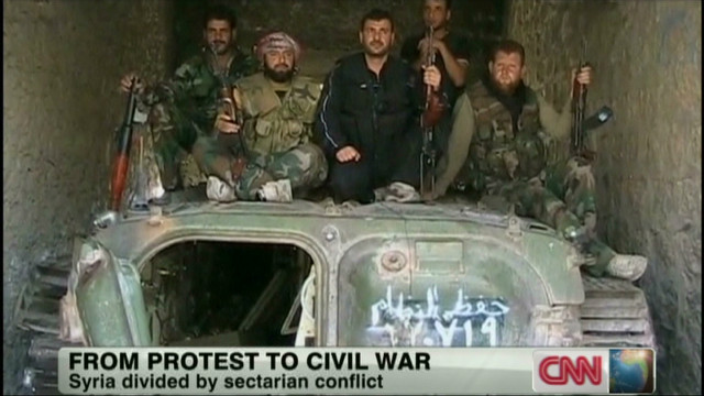 Syrian opposition armed and organized