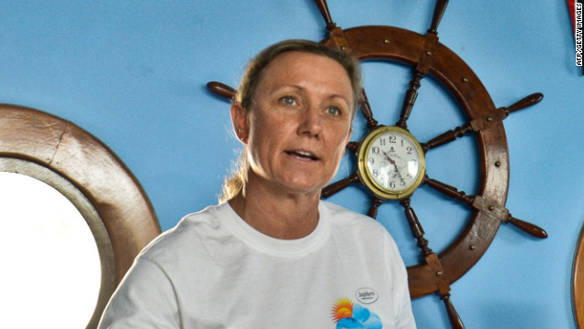 Palfrey will attempt to swim from Cuba to Florida on Friday.