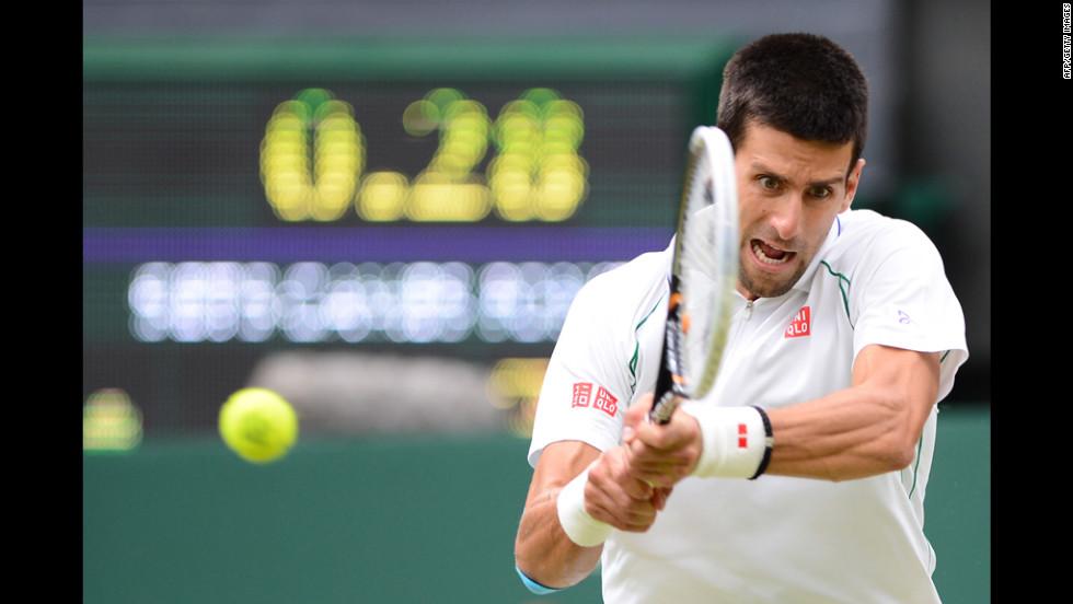 Serbia's Novak Djokovic plays Czech Republic's Radek Stepanek on Friday.