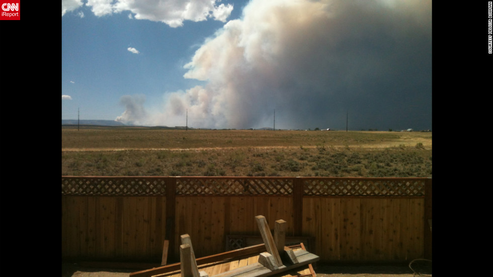 Melissa Bowman, a CNN iReporter from Big Piney, Wyoming, captures the Fontenelle Fire close to her home as she waits for an evacuation notice.
