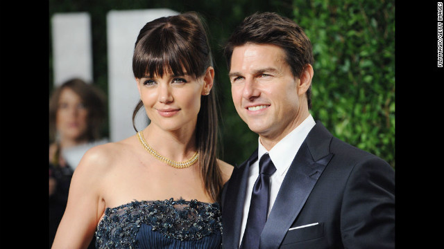 Cruise and Holmes arrive at the 2012 Vanity Fair Oscar Party at Sunset Tower on February 26, 2012 in West Hollywood, California.