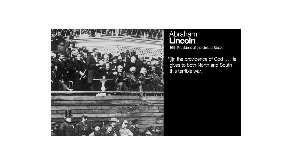 Lincoln, in his second inaugural address, delivered March 4, 1865.