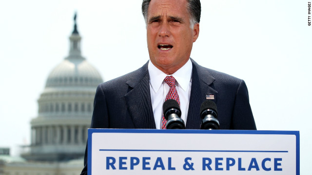 Presumptive GOP nominee Mitt Romney made a statement Thursday soon after the Supreme Court's Obamacare ruling.