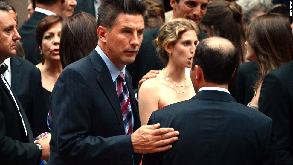 Billy Baldwin attends his brother's wedding on Saturday.