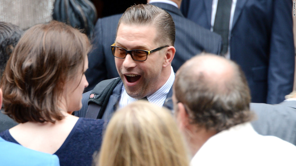 Actor Stephen Baldwin arrives for his brother's wedding.
