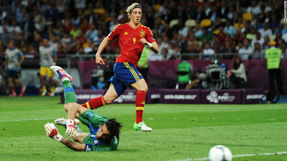 Fernando Torres came on as a substitute for Cesc Fabregas to score his country's third goal of the night and his third of the tournament to claim the Euro 2012 Golden Boot.